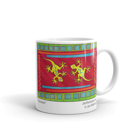 Western Lizard Abstract Design Mug - Jan Rickman