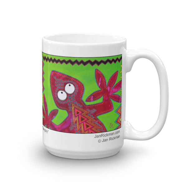 Lizard Coffee Mug Design by Jan Rickman