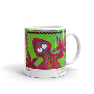 Cheerful Lizard Mug - Jan Rickman