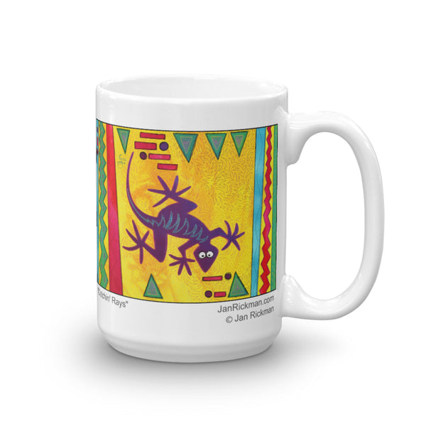 Lizard Catching Rays Mug - Jan Rickman