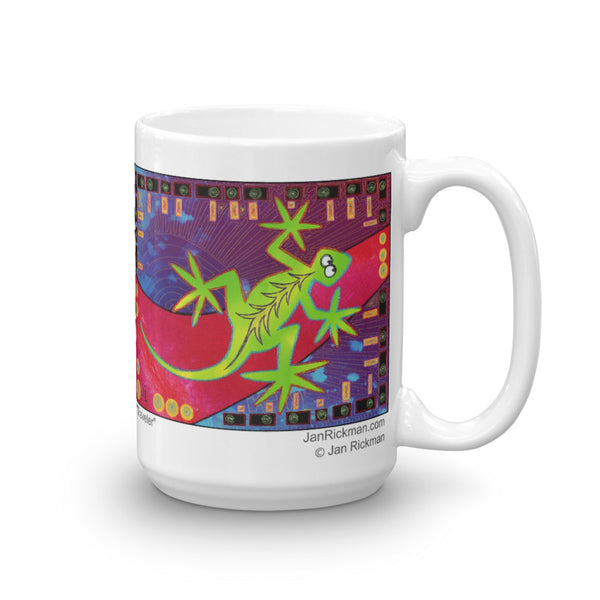 Green Lizard Mug - Jan Rickman