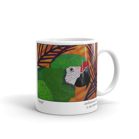 Military Macaw Parrot Coffee Mug - Jan Rickman