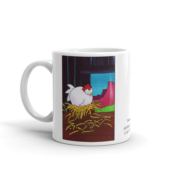 Snoozin Chicken on a coffee mug 11oz