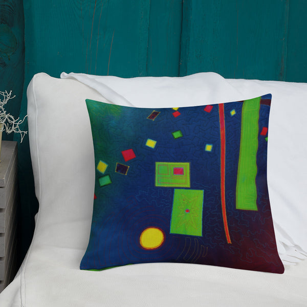 Abstract Design Premium Pillow - Jan Rickman