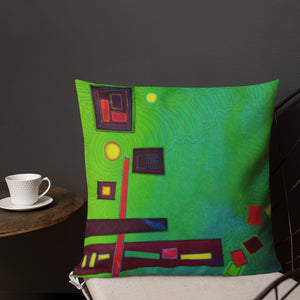Throw Pillow Abstract Design by Jan Rickman 18x18