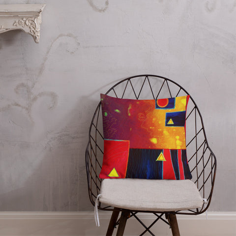 Abstract Throw Pillow - Jan Rickman