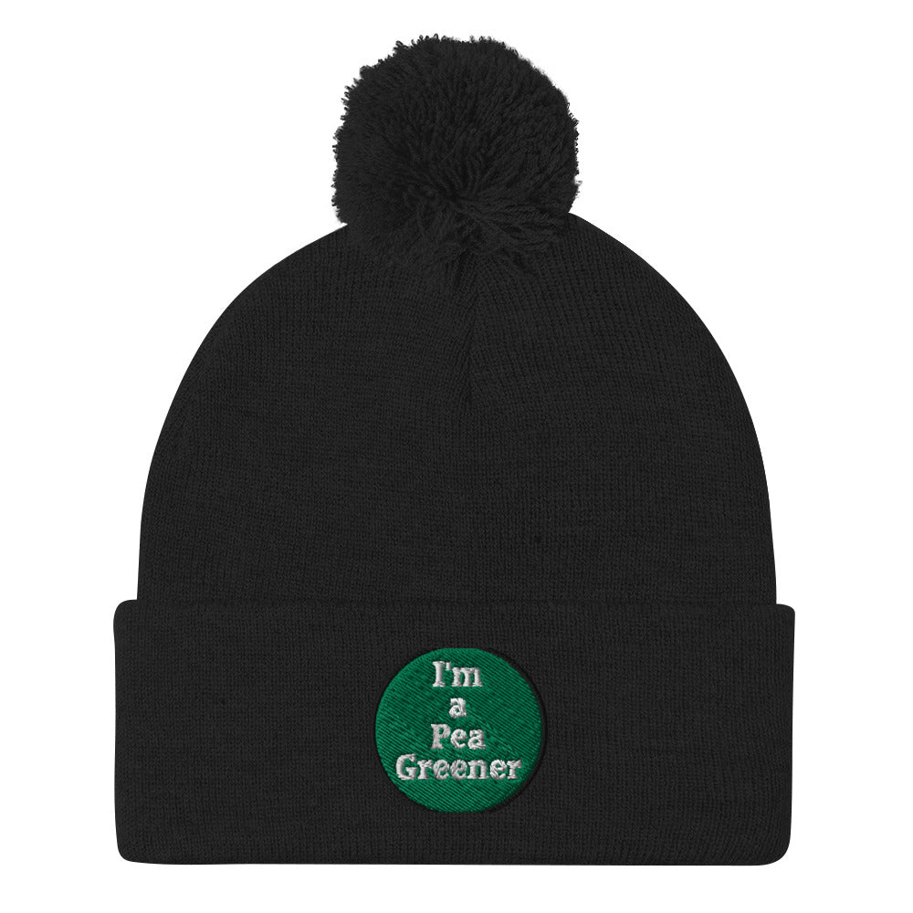 Pea Green Saturday Night Official Pom-Pom Beanie - Jan Rickman