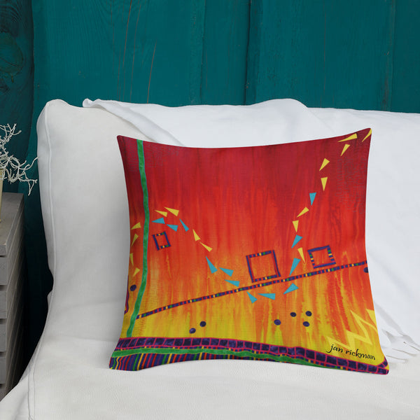 Abstract Design Throw Pillow by Jan Rickman - Jan Rickman