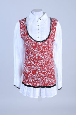 Knitted Floral Shirt Tunic