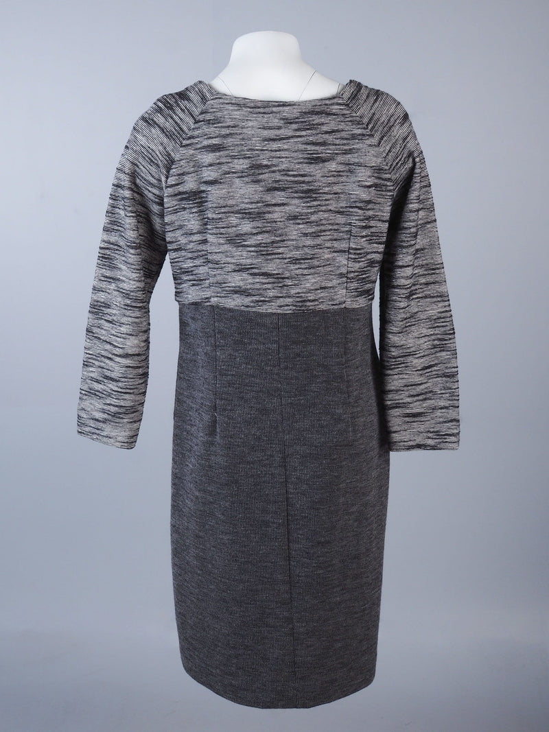 Textured Dress With Pleated Top