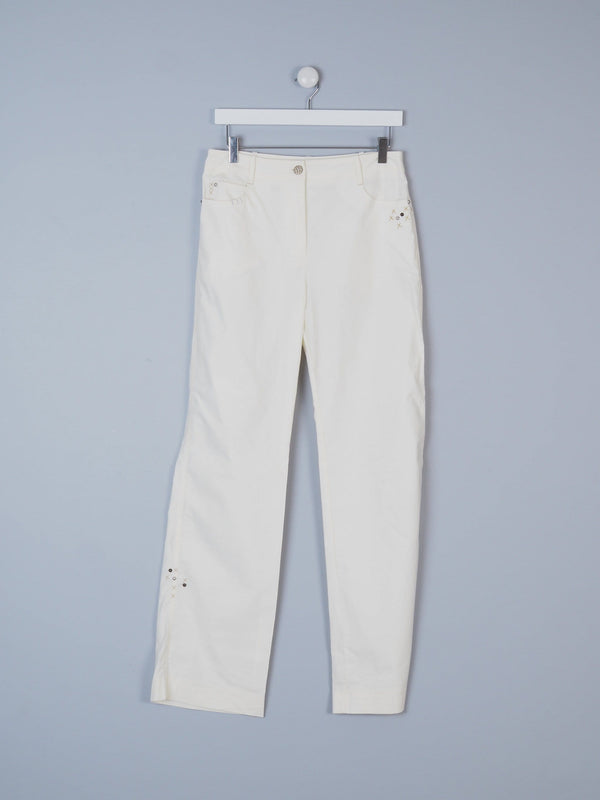 Casual Trousers With Stud Details