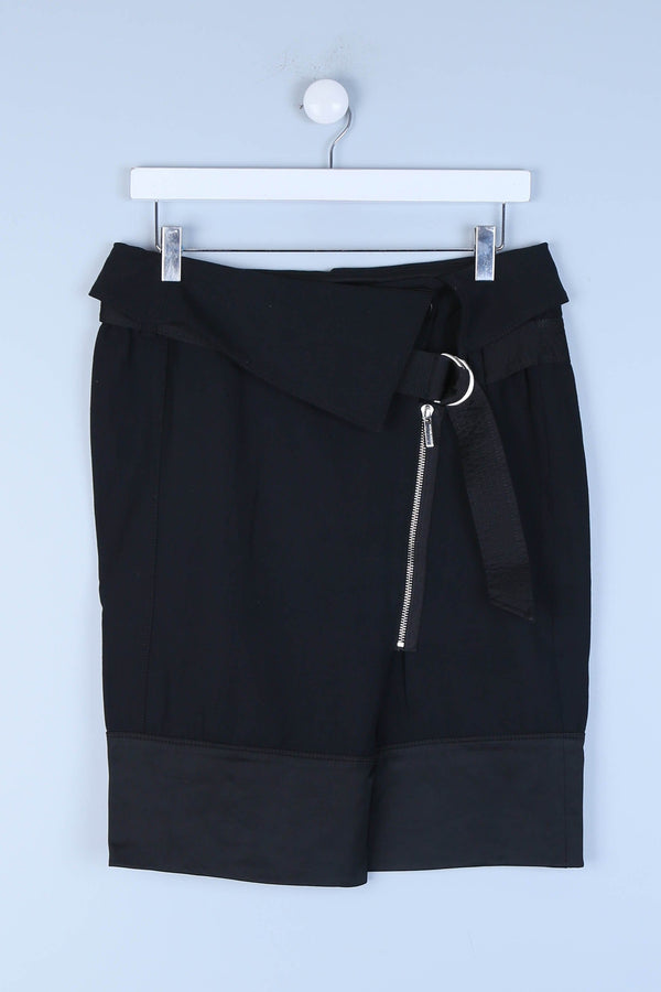 Belted Asymmetric Skirt