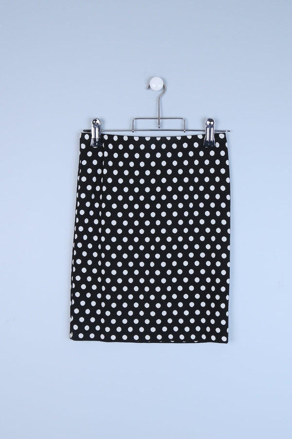 Polka Dot Print Skirt