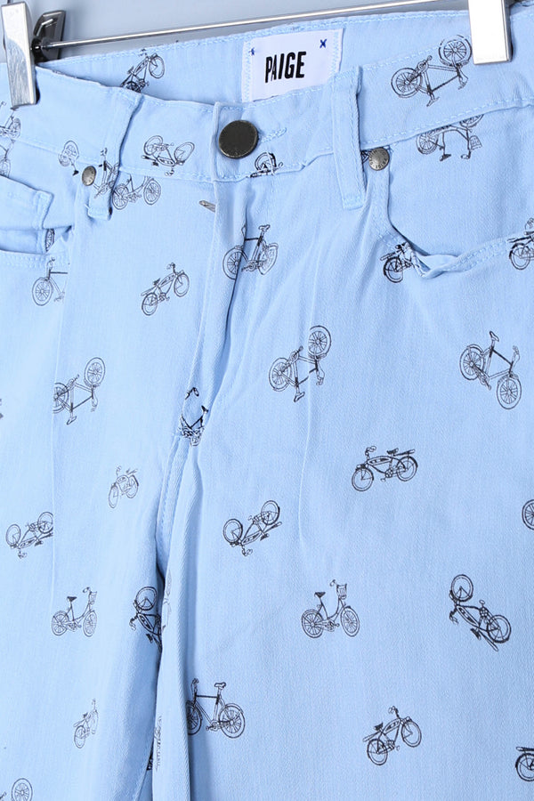 Bicycle Print Jeans