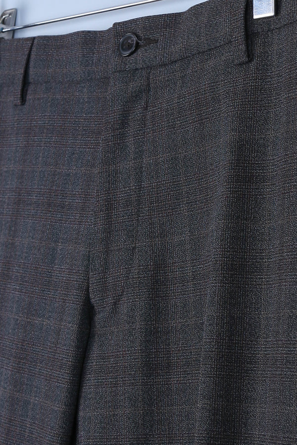 Tailored Check Print Trousers