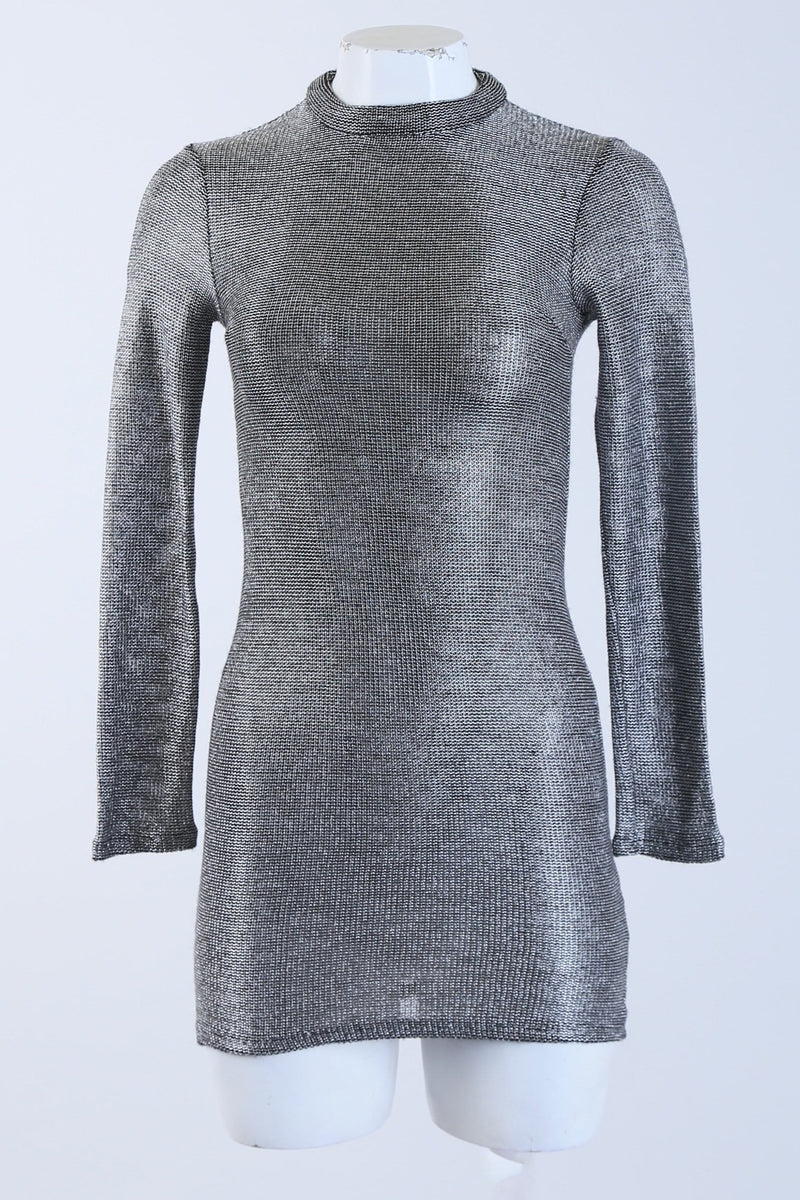 Shimmery High Neck Dress