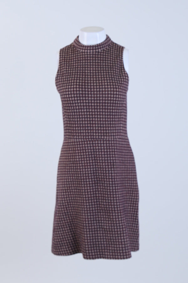 Patterned High Neck Dress