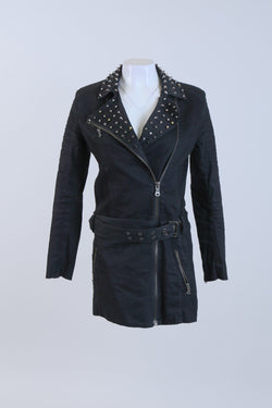 Studded Long Line Jacket
