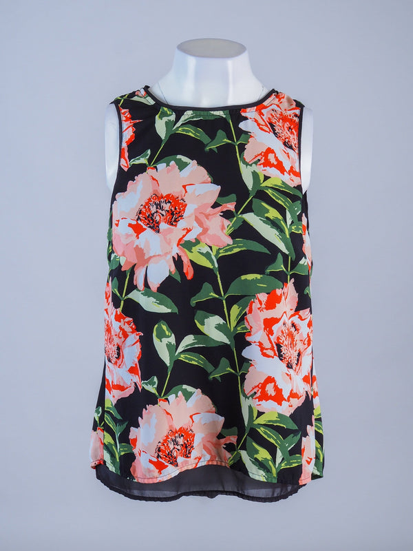 Floral Layered Swing Vest