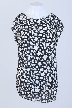 Patterned Cap Sleeve Top