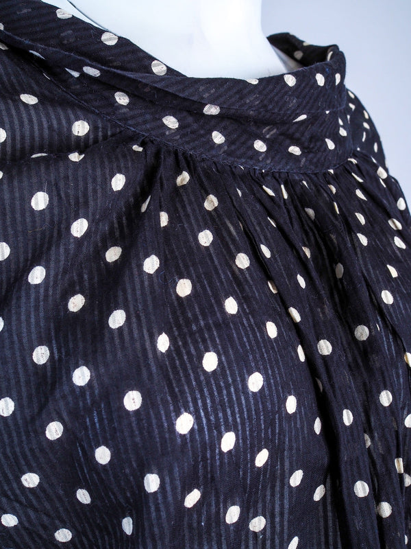 Scoop Neck Polkadot Top