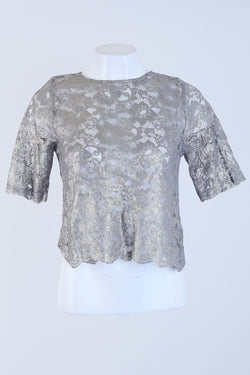 Shimmery Patterned Top