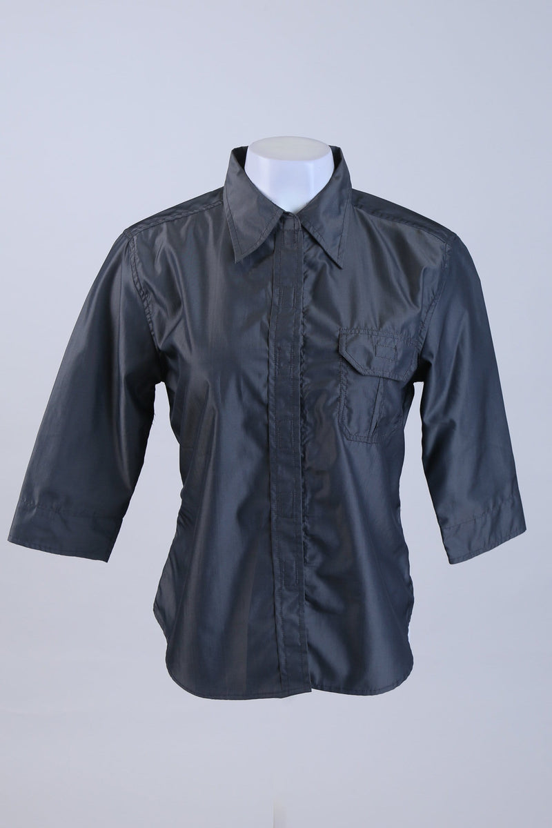 Velcro Up Mid Length Sleeve Shirt