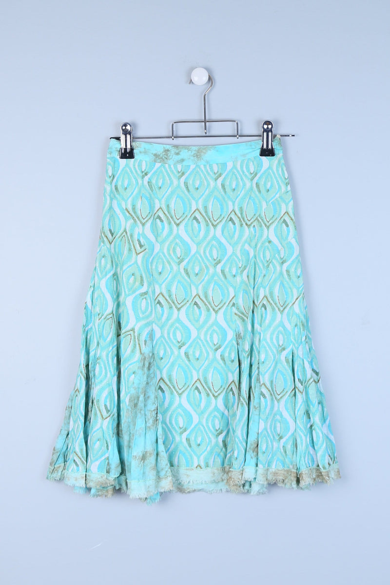Patterned Maxi Skirt