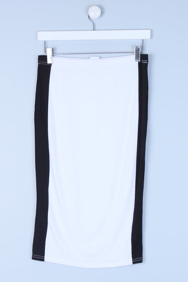 Side Panel Midi Pencil Skirt