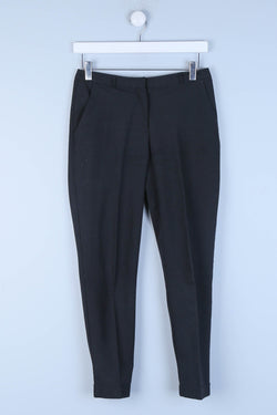 Tailored Slim Fit Trousers With Turn Up Bottoms