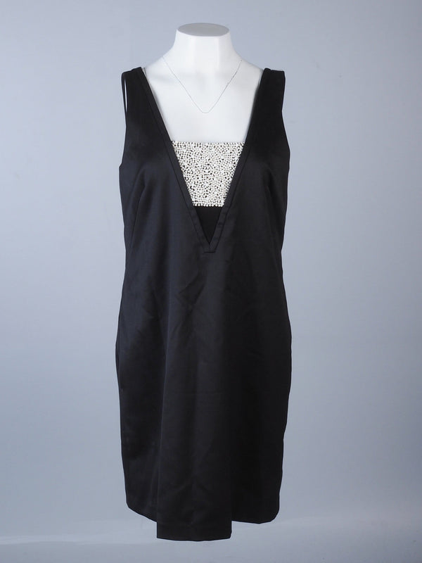 Beaded Detail V-Neck Dress