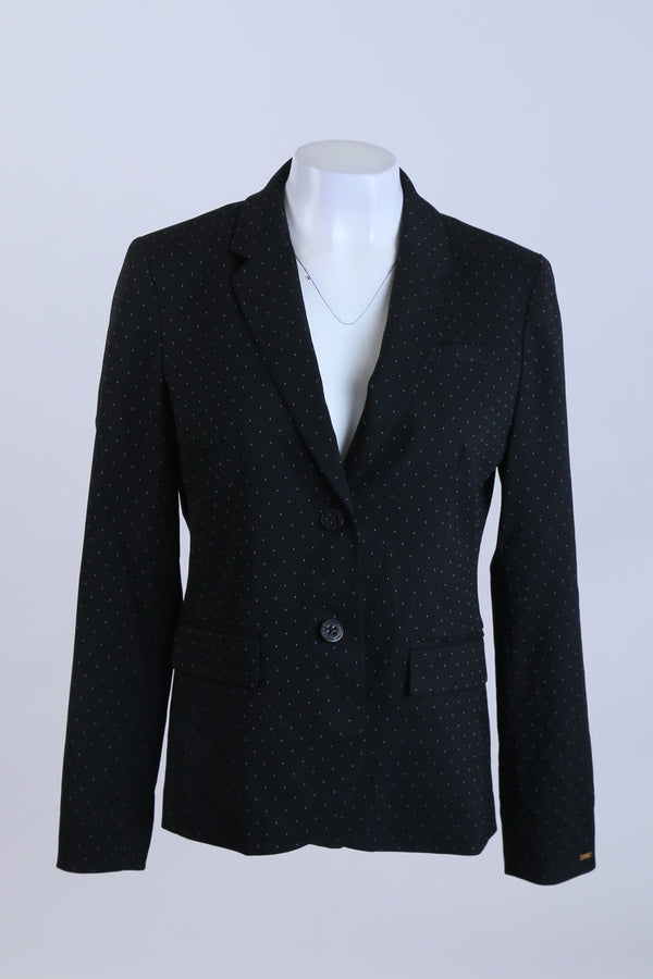 Patterned Blazer with Button Front