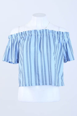 Striped Bardot Blouse
