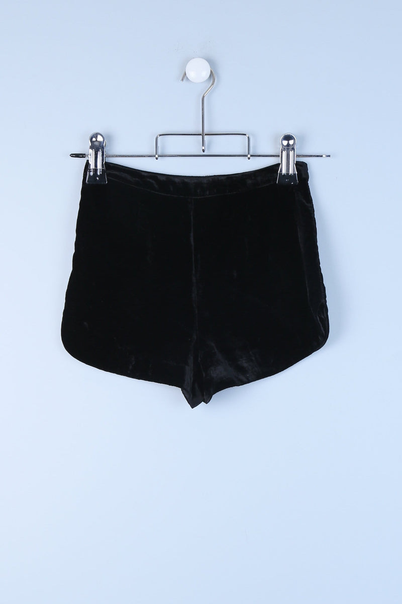 Velour Mini Shorts