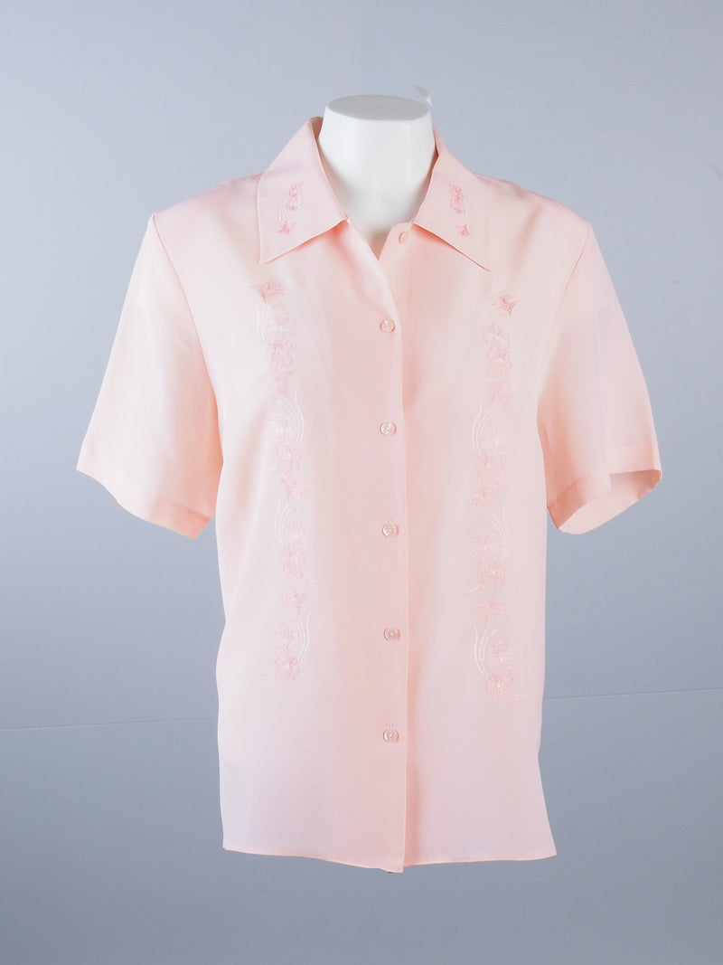 Short Sleeve Shirt with Detailed Collar & Front