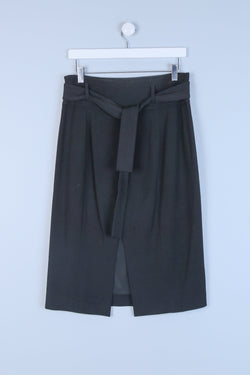 Belted Tailored Skirt
