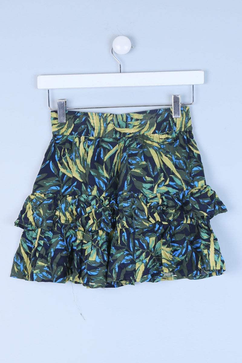 Ruffle Detailed Mini Skirt