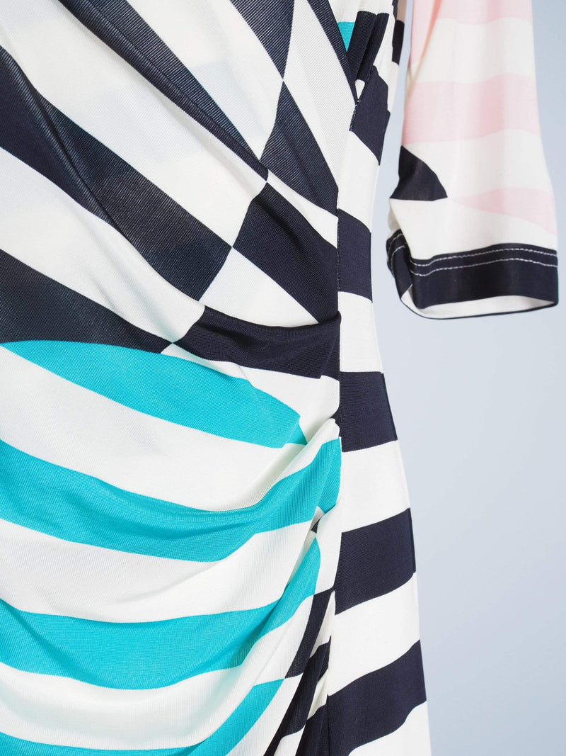 Striped Wrapover Dress
