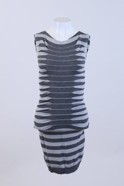 Stripe Print Bodycon Dress