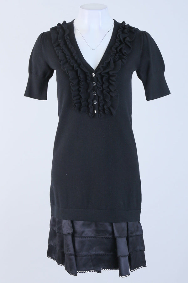 Ruffle Detailed Short Sleeve Dress