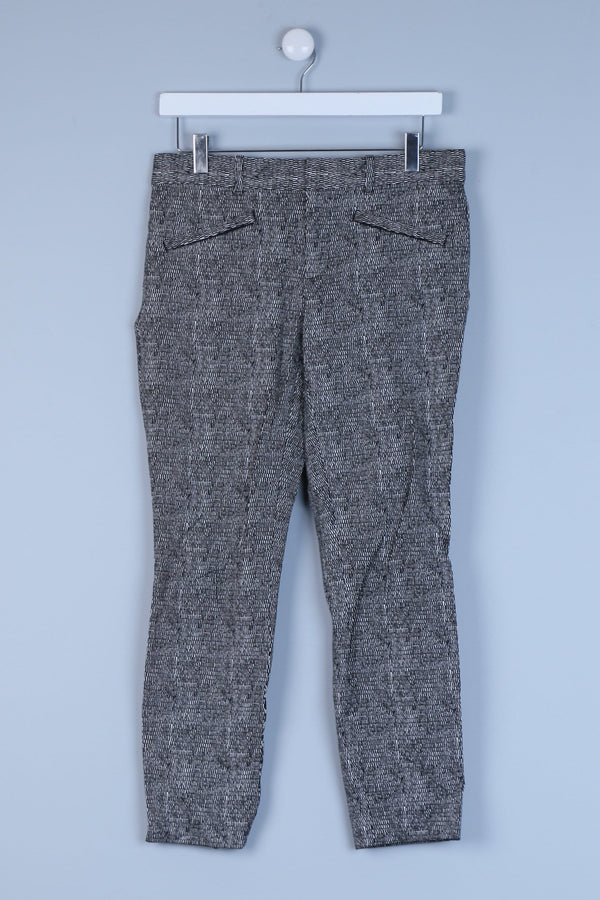 Patterned Tailored Straight Leg Trousers