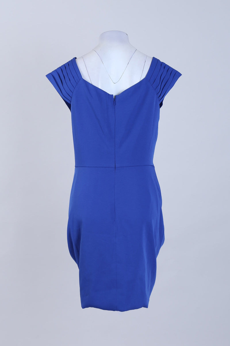 Plunged Neck Dress With Front Detail