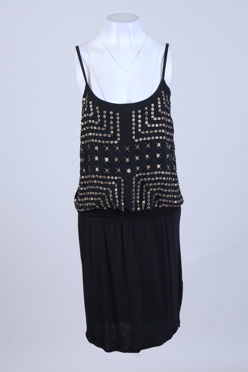 Sequin Detailed Strappy Dress