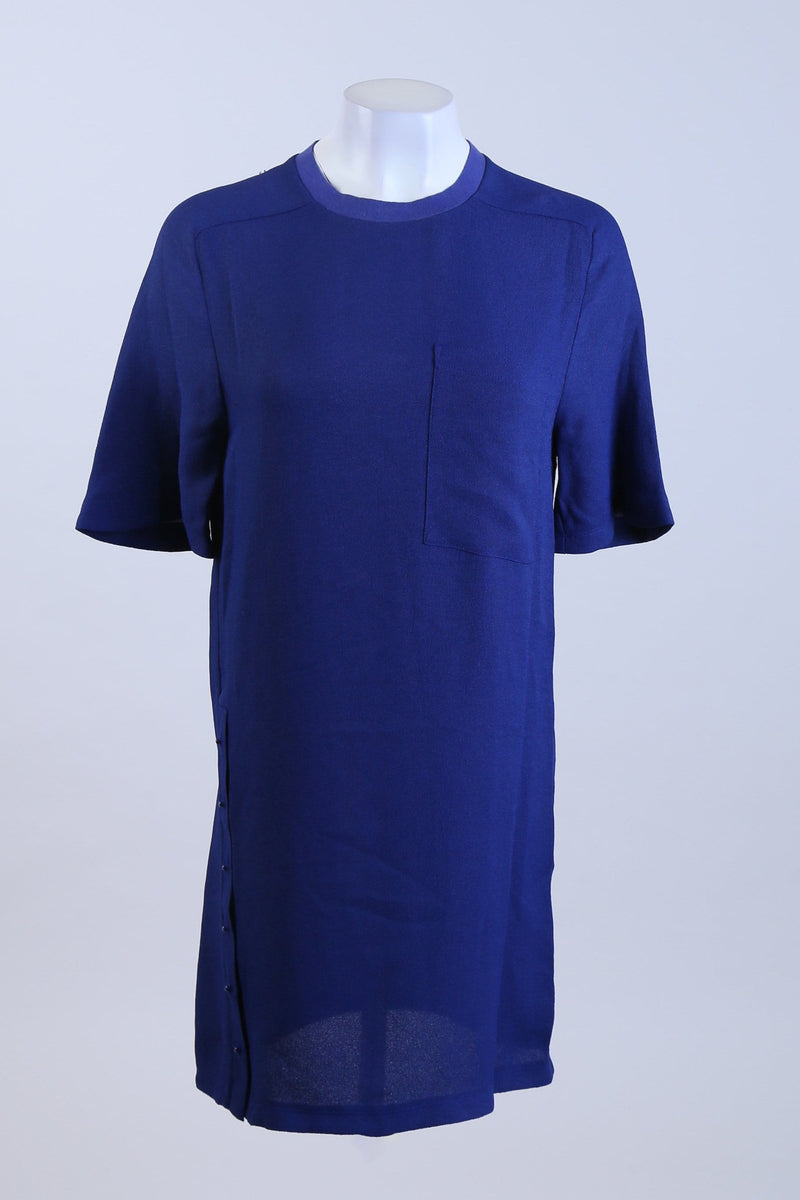 Twisted Placket T Shirt Dress