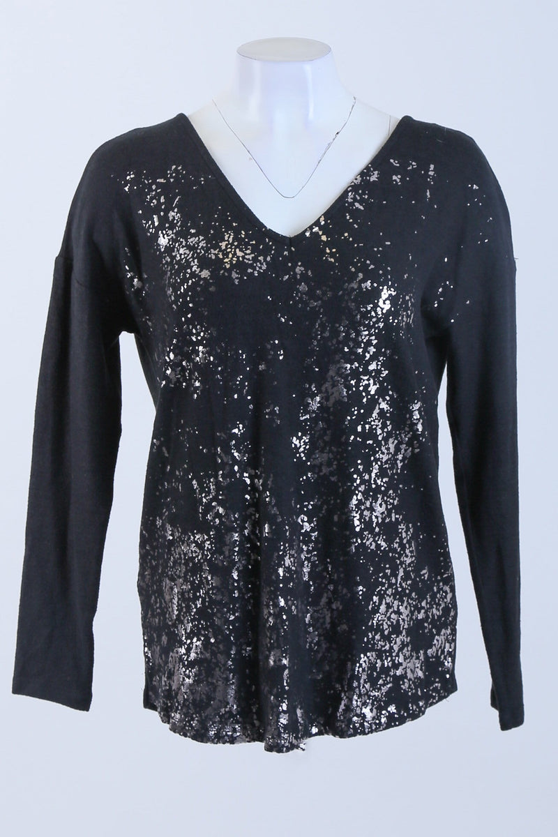 Glittery Long Sleeve Top