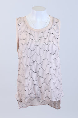 Patterned Sleeveless Top