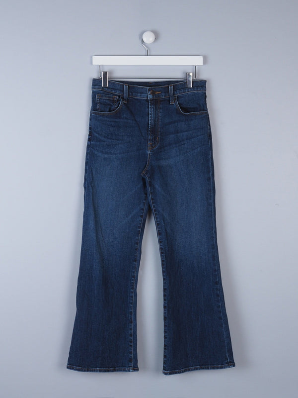 Boot Cut Jeans With Logo Button
