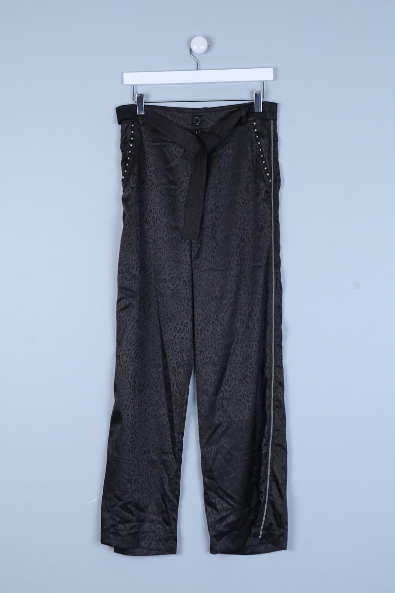 Gem Detailed Wide leg Trousers