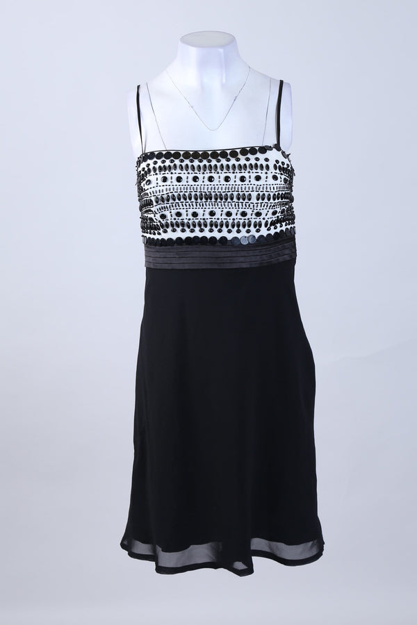 Strappy Beaded Detailed Mini Dress