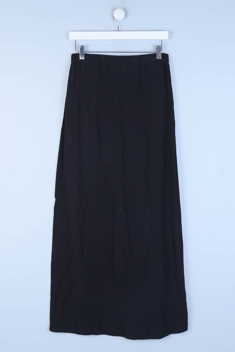Tied Waist Front Split Skirt